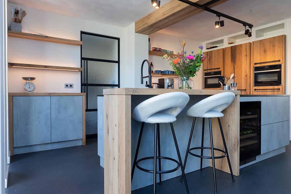 Moderne eiken keuken