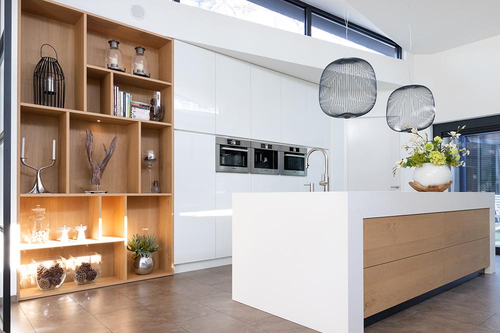 Wit - eiken moderne keuken & interieur